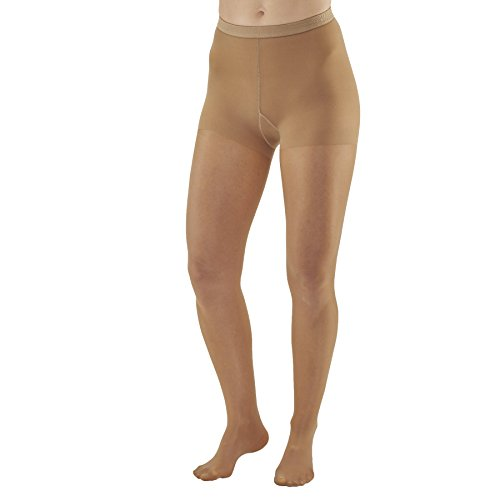 Ames Walker Womens AW Style 78 Soft Sheer Compression Pantyhose 8 15 mmHg Natural Queen Plus 78 QP Natural Nylon/Spandex