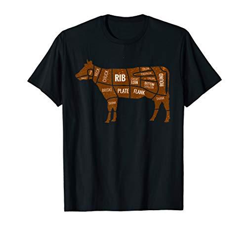 Cow Cuts T-Shirt - Beef, Rib, Steak, Meat Lover Tee
