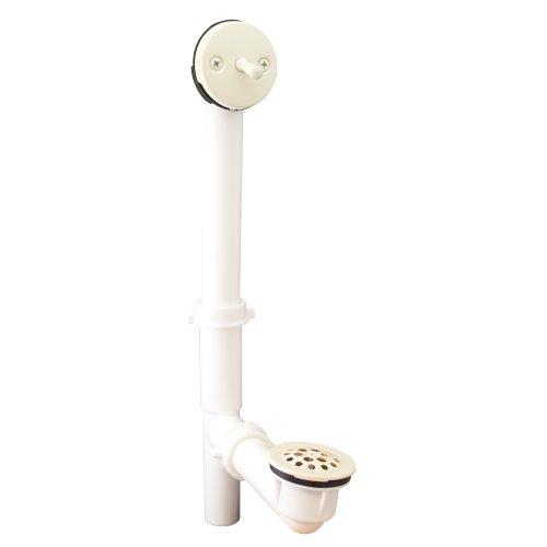 - PlumBest P3761BI PVC Tubular Trip Lever Bath Waste Kit, Biscuit