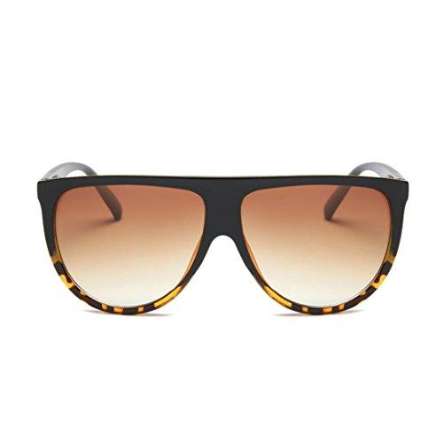 OverDose, Lunettes De Soleil CarréEs Unisex Yeux De Chat à Verres Effet Miroir Anti-UV Sport Glasses (H)