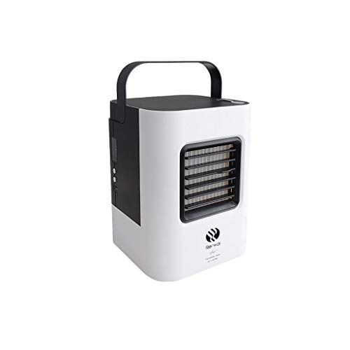 (IslandseUSB Charging Air Conditioner Fan Mini Portable Refrigerator Air Cooler Nano Fan (Black))