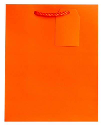 Jillson Roberts Bulk Medium Gift Bags Available in 19 Colors, Orange Matte, 120-Count (BMT927) by Jillson Roberts