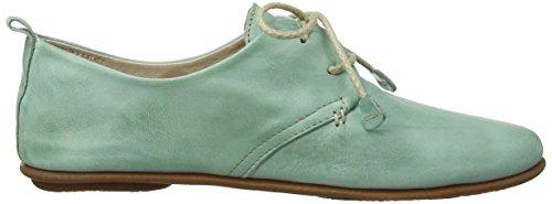 Pikolinos Calabria 7123 - Zapatos de cordones de cuero para mujer Azul (Aquamarine)