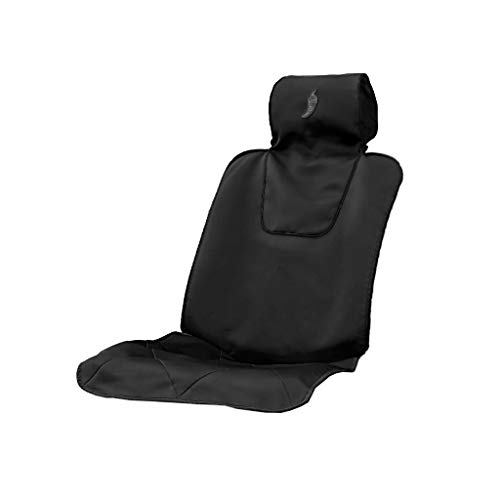 Dry Rub Car Seat Cover for Athletes - Universal Fit, Machine Washable, Waterproof, Anti-Sweat Seat Cover for Running, Triathlon, Gym, Swimming and More. 4 Trim Colors to Choose from. (Charcoal)
