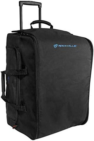 Rockville Rolling Travel Case Speaker Bag wHandle+Wheels For Samson RS-415USB / Rockville Rolling Travel Case Speaker Bag wHandle+Wheels For Samson RS-415USB