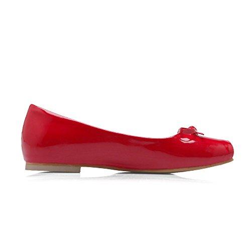 Visa Shine Kvinna Charm Rosetter Halka På Flats Shoes Red