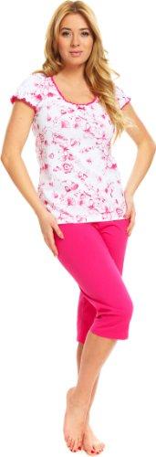 Italian Fashion IF Pijamas para Mujer Casablanca 0225 Amaranto