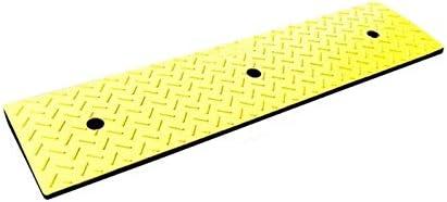 XUZgag イエローラバースロープ、ストリートショップ入り口の車のステップアップヒルパッド多機能ノンスリップスロープ 滑り止め (Size : 7CM)