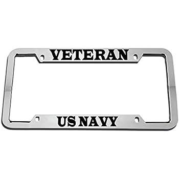 United States Combat Veteran Military Bike Metal Bike License Plate Frame