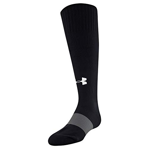 Under Armour Kids' Soccer Over-The-Calf Socks, 1-Pair, Black, Shoe Size: Youth 13.5K-4Y