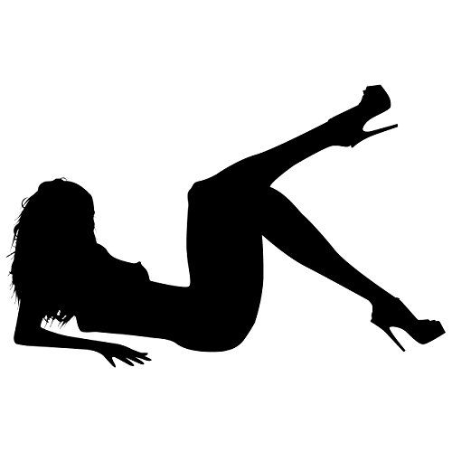 Sexy Girl Pinup Wall Decals Sticker 1 - Decal Stickers and Mural for Adult Room and Bedroom. Girl Vinyl Decor Wall Art for Home Decor and Decoration - Sexy Girl Silhouette Mural ()