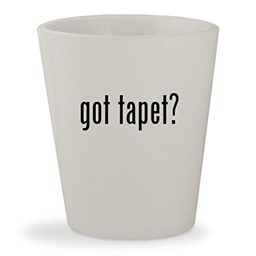 got tapet? - White Ceramic 1.5oz Shot Glass (Rosa, Gold Und Schwarz)