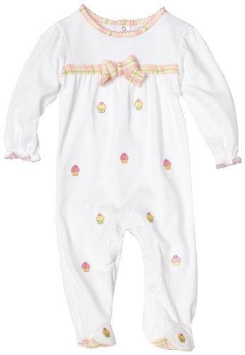 ABSORBA Baby-girls Newborn Sugar Cookie Footie, White, 3-6 Months