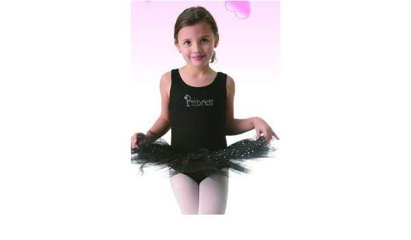 7208d20c8 Amazon.com  Posh Int l Kids Black Princess Tutu Leotard Dress Dance ...