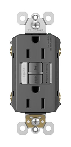 Legrand - Pass & Seymour radiant 1597NTLTRBKCCD4 15 Amp Combination LED Night Light/Tamper-Resistant Self-Test GFCI Safety Outlet, Black