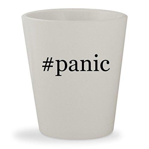 #panic - White Hashtag Ceramic 1.5oz Shot Glass