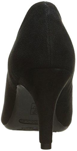 Clasica Talla Gamuzablack Exquisite Zapatilla Mujeres Negro Punta Suede Aerosoles Piel Picuda Escarpín YZ18Tqw