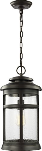 (Feiss OL14309ANBZ Newport StoneStrong Marine Grade Outdoor Lighting Pendant Lantern, Bronze, 1-Light (9
