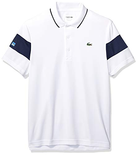 Lacoste Men's Sport Miami Open Edition Bands Technical Piqué Polo