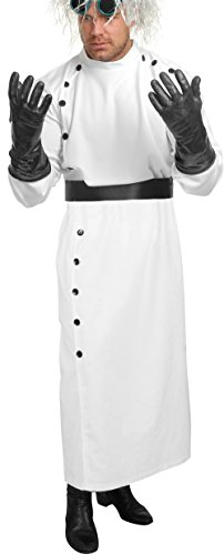 Charades Men's Mad Scientist Costume Set, White, Large