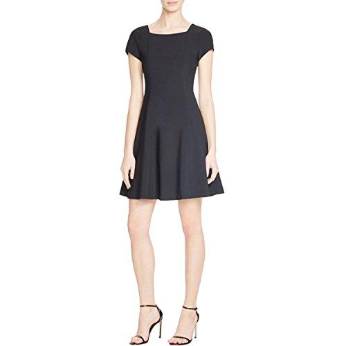 Theory Black Wool - Theory Womens Elex Wool Blend Square Neck Cocktail Dress Black 4