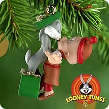 Hallmark Keepsake Miniature Ornament Bugs Bunny and Elmer Fudd (Bugs Bunny Ornaments)