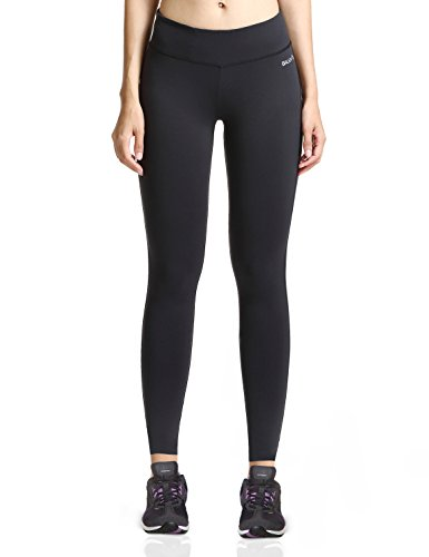 Baleaf Women's Ankle Legging Inner Pocket Non See-through Black Size M