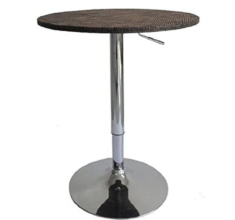 Awesome HomCom 26u0026quot; Modern Adjustable Bar Table Stand   Rattan Wicker