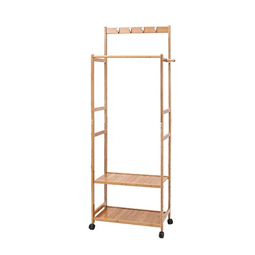 Amazon.com: ZEMIN Floor Standing Coat Rack Movable Clothes ...