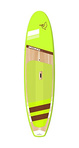 Pelican Premium Board SUP Moorea 106 Inflatable Raft, Orange Wood/White Pad Line