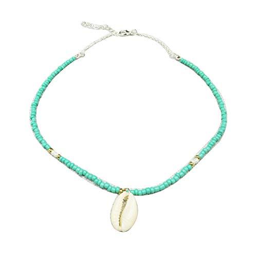 Redmoon Necklace for Women&Bohemian Shell Pendant Women's Beaded Chain Necklace Summer Beach Party Jewelry,Jewelry Set,Necklaces for Women