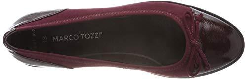Mujer 21 550 Tozzi 2 Rojo para Marco 2 Comb 550 Bordeaux 22116 Bailarinas 84HqcwZ