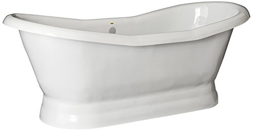 Restoria Bathtubs The Empress Bathtub White  Pedestal Base 7