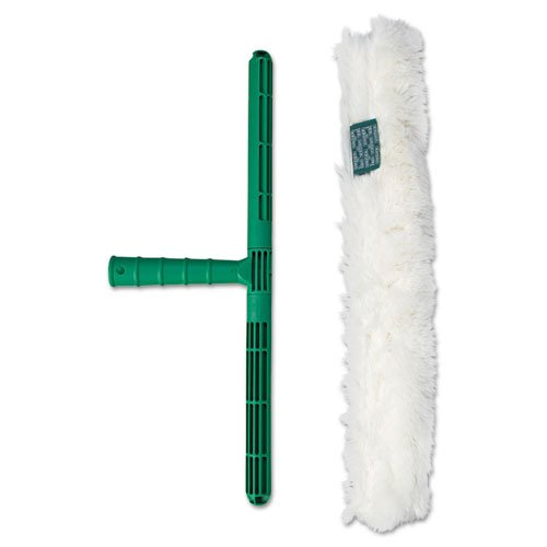 Unger Original Strip Washer with Green Nylon Handle, White Cloth Sleeve, 18 Inches - one 18 inch nylon handle and cloth sleeve.
