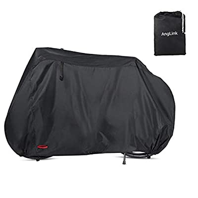Anglink Waterproof Bike Cover 29 Inch Heavy Duty 210D Oxford Bicycle Cover Double Stitching & Heat Sealed Seams, Protection from UV Rain Snow Dust Mountain Road Electric Bike Hybrid Outdoor Storage