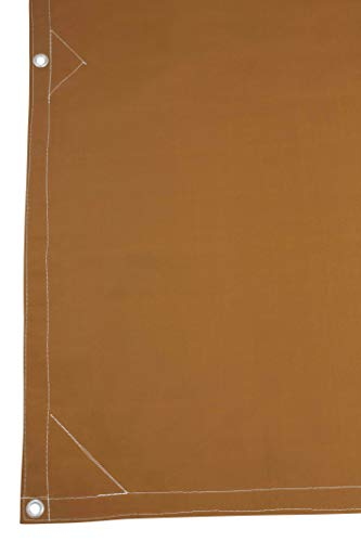 10' x 12' Tan Canvas Tarp 12oz Heavy Duty Water Resistant by  Mytee Products  (Image #2)