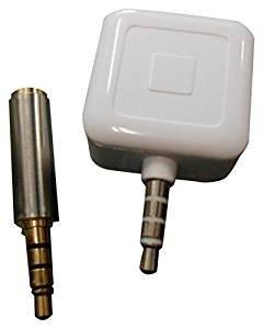 Bartovation (Tm) Square Card Reader & 1 Inch 3.5mm Extender Adapter 4 Pole Kit