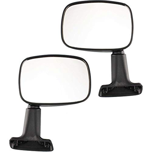 (Manual Mirror compatible with Toyota Pickup/4Runner 84-86 Right and Left Side Manual Folding Non-Heated Textured Black)