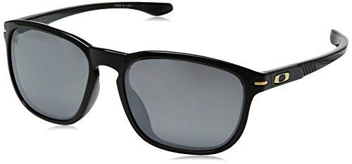 Oakley Men's Enduro OO9274-03 Oval Sunglasses, Polished Black, 55 - Enduro Oakley Sunglasses