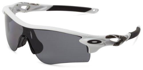 Oakley mens Radarlock OO9181-20 Polarized Sport Sunglasses,Matte White,55 mm