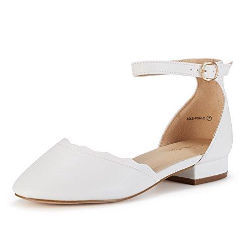 Women's White Sole Shoes Pu Vogue PAIRS Flats DREAM 5qWPAZnP
