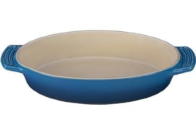Le Creuset Stoneware Oval Dish, 1-Quart.