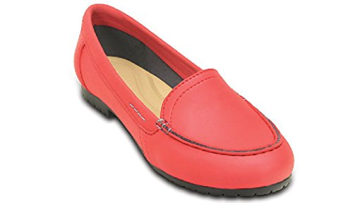 Femme W7 38 Rouge Mocassins black Pepper Crocs 5 Pour wYfqz