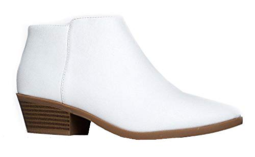 Western Ankle Boot, White Gold Pu, 8.5 B(M) US