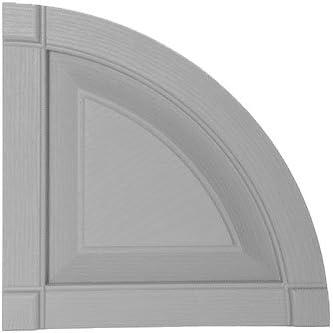 Pair Mid-America 00 97 0003 002 Black 14 3//4 Raised Panel Shutter Quarter Round Arch Top