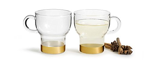 Sagaform 5017748, 2 Pack Small Holiday Mugs, Clear