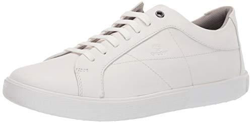 Geox Men's J Harrod 2 Leather Sneaker, White, 42 Medium EU (9 US)