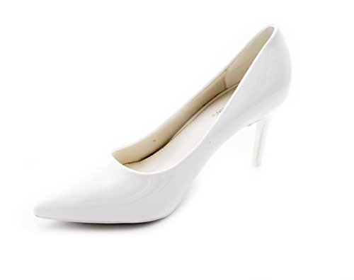 Fashion Shoes, Damen Pumps Blanc(8cm)