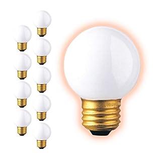 25 Watt G16 Globe Light Bulbs | Frosted Finish Medium E26 Base 2700K Soft White | Dimmable 25W 350 Lumens | Ideal Vanity Light Bulbs | 10 Pack by GoodBulb