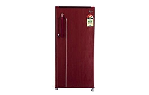 LG 190 L 4 Star Direct Cool Single Door Refrigerator  GL 205KMG4, Sparkle Red